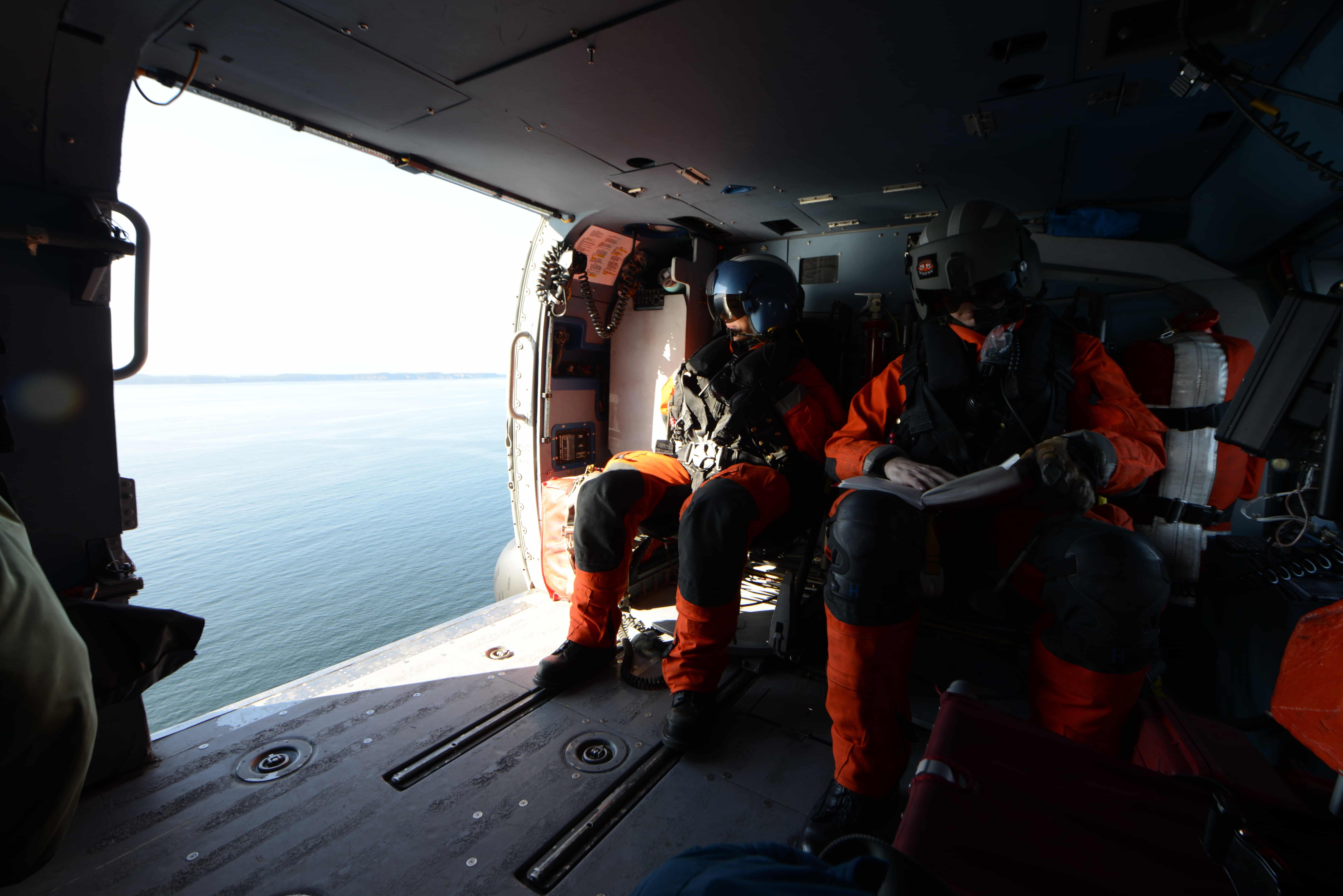 Two coast guard flight paramedics