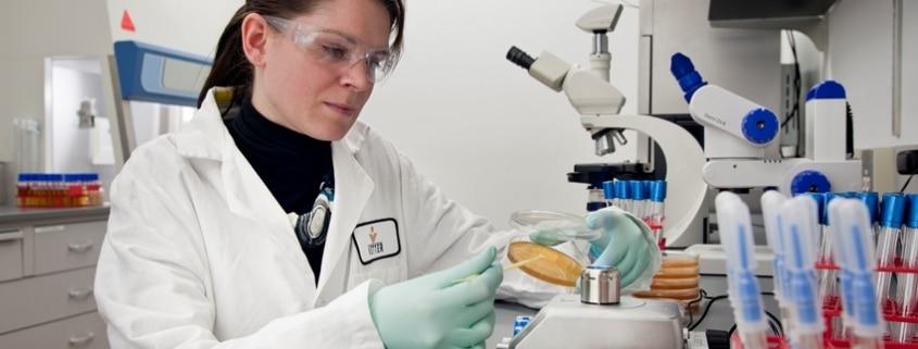 Female professional in a laboratory