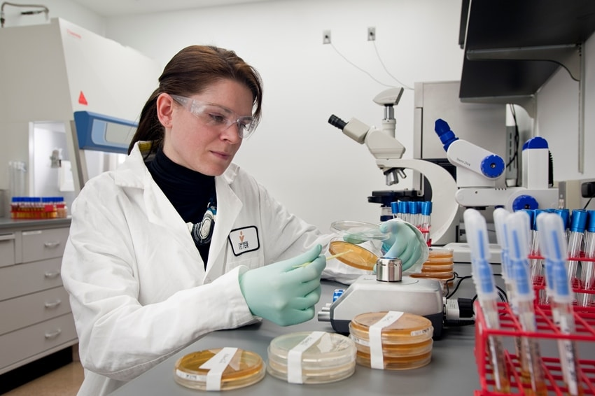 Female professional in a laboratory