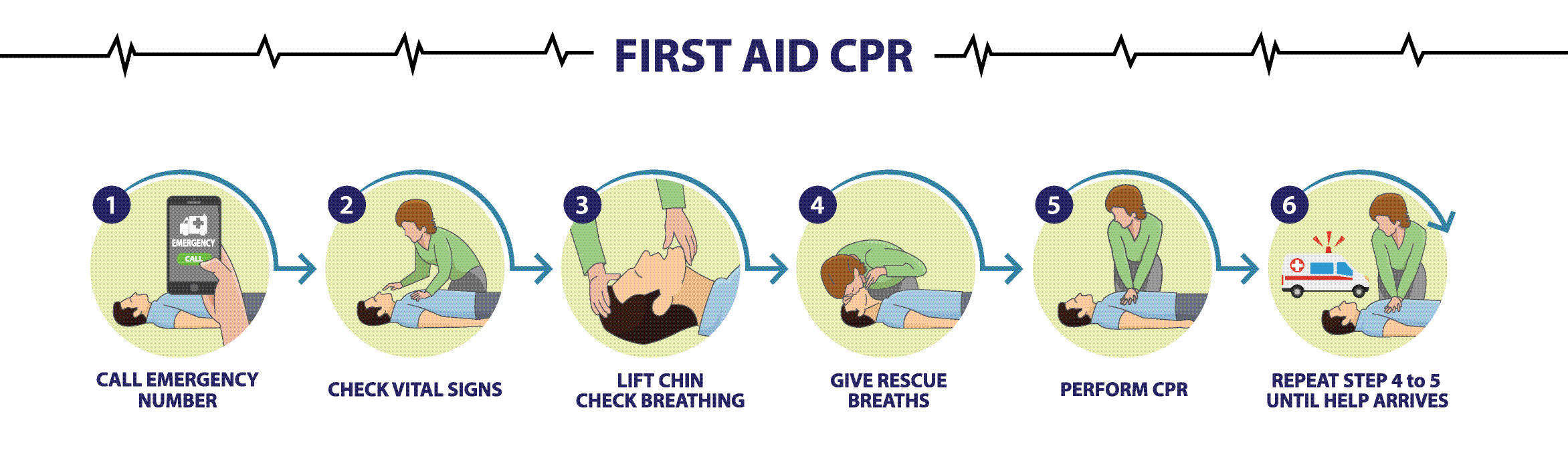 The steps of CPR