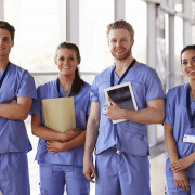 Team of smiling nurses