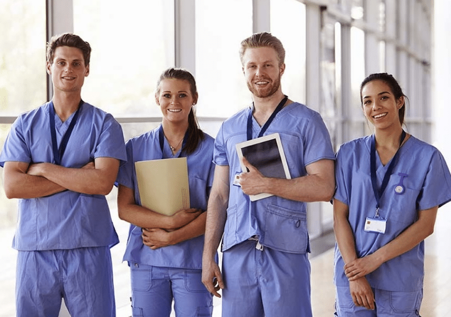 Team of smiling nurses