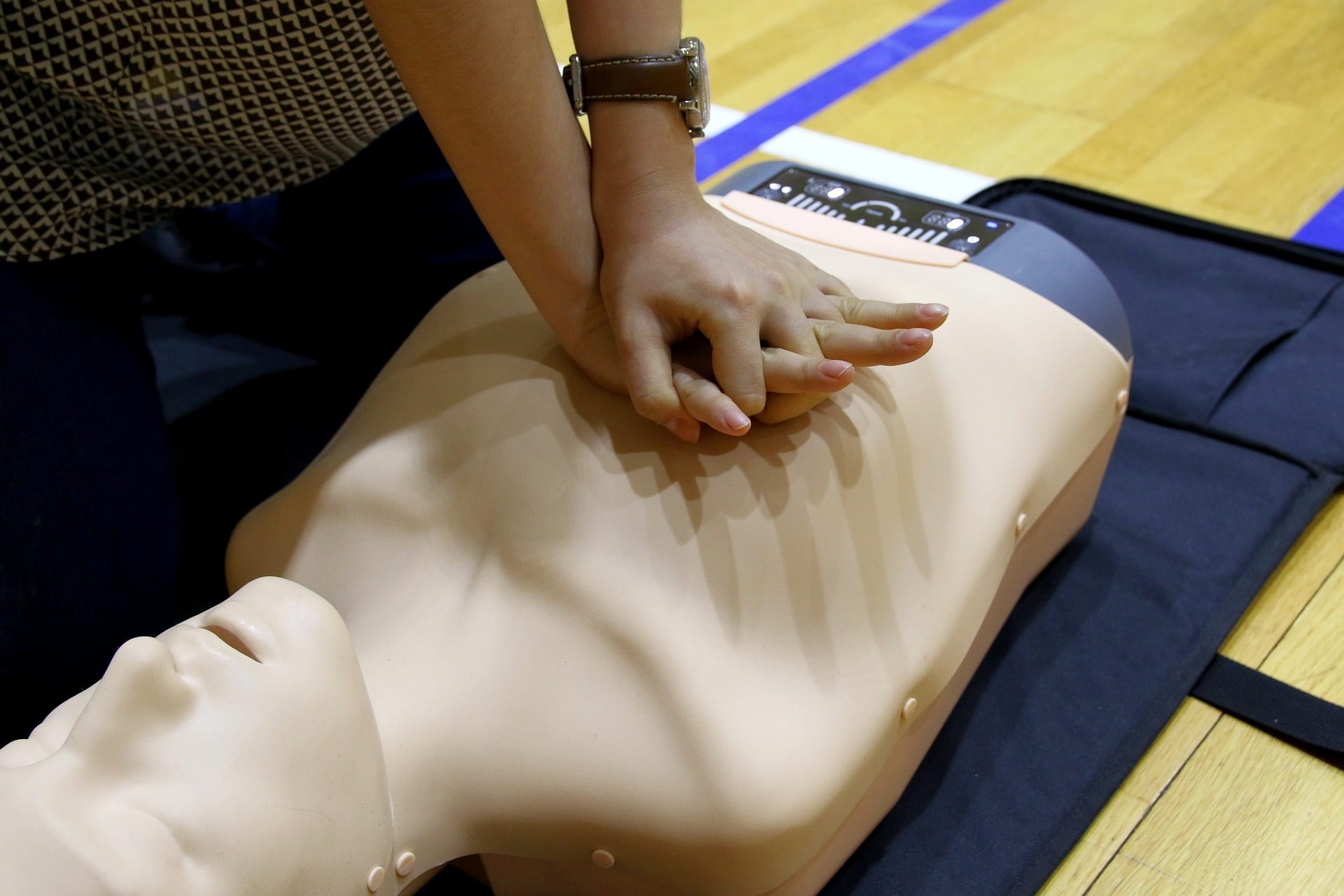 CPR on a mannequin