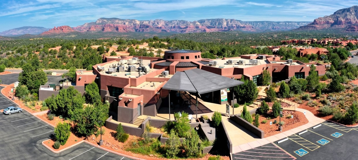 Aerial view of YAVAPAI COLLEGE