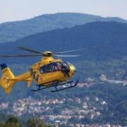 Helicopter in midflight